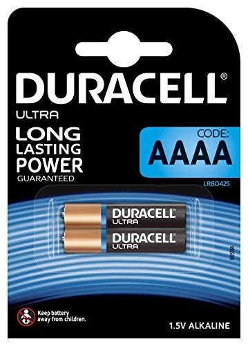 Pile alcaline Duracell spéciale AAAA 1,5 V, pack de 2 (LR8D425), conçue pour une utilisation dans les stylos numériques, dispositifs médicaux et phares