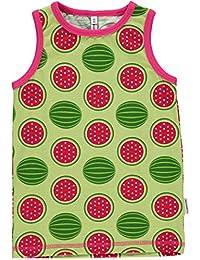MAXOMORRA Mädchen Unterhemd Grün Melone Kinder Gots BioBaumwolle