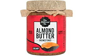 The Butternut Co. Almond Butter Unsweetened, Creamy 200 gm (No Added Sugar, Vegan, High Protein, Keto)