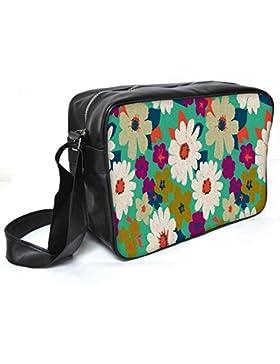 Snoogg Vintage Blumen Leder Unisex Messenger Bag für College Schule täglichen Gebrauch Tasche Material PU