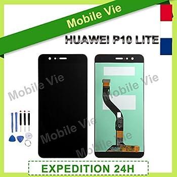 MobileVie VITRE Tactile + ECRAN LCD Original Pret-A-Monter pour Huawei P10  Lite 2016 Noir + Outils b2410b0a5f54