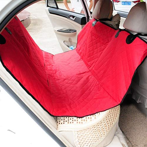 Couvertures de siège de voiture étanches pour chiens, hamac anti-rayures, couvre-sièges antidérapants pour chien, siège arrière pour véhicule automobile SUV ( Couleur : Red 2 , taille : One size )