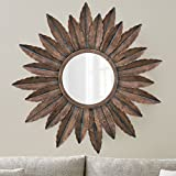 #3: Collectible India Metal Handmade Mirror Wall Mounted 3D Art Sculpture Decor Hanging Attached Wall Hanger( Size: 30 x 30 Inches)