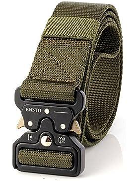 MUMUGO Cinturón táctico de los hombres Estilo militar con nosotros Cinturón de nylon de alta resistencia para...