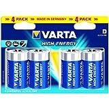 Varta High Energy Batteries D 4 pack