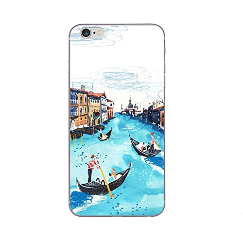 iPhone 8 Handyhülle Schutzhülle Hülle Silikon Cover Case Ultra Dünn Slim Backcover TPU transparent Venedig