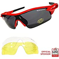 VeloChampion Warp Cycling Sunglasses Running Shooting Sports Glasses - Red