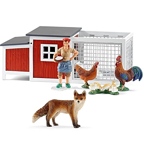Preisvergleich Produktbild Schleich Figuren-Spiel Set - Fuchs im Hühnerstall Farm Life - Hühnerstall 42191 Fuchs 14782
