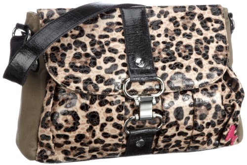 Poodlebags Funkyline - natural wild - Wednesday - 3FU0212WEDNT, Borsa a tracolla donna, 32 x 8 x 24 cm (L x A x P) Marrone (Braun (taupe))