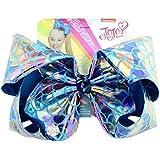 JoJo Siwa Large Sparking Blue Metallic Glitter Mermaid Signature Hair Bow