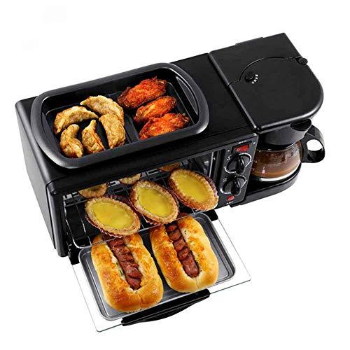 ZQYY® Elektrischer Ofen,Toaster,Kaffeemaschine,Elektrischer Multifunktionsofen,Mini Frühstücksautomat 1050w 9L