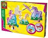 SES Creative 01356 - Gipsfiguren Pferde, gelb