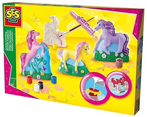 ses-creative-01356-gipsfiguren-pferde-gelb