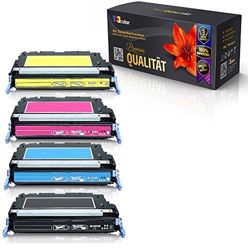 Preisvergleich Produktbild Print-Klex 4x Alternative Tonerkartuschen für HP Color LaserJet 4700N Color LaserJet 4700PH Plus Q5950A Q5951A Q5952A Q5953A Schwarz Cyan Magenta Yellow