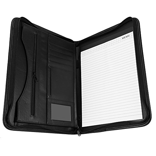 El paquete incluye: 1x Organizador carpeta A4con cremallera cartera de piel sintética