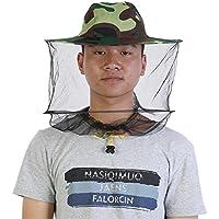 Zerodis Camuflaje Apicultor Net Fly Máscara Gorra con Máscara de Cuello Cara Máscara de Protección para Apicultor Apicultor Pesca al Aire Libre