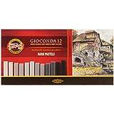 Koh-I-Noor Gioconda - Tizas óleo pastel (12 unidades), colores grisáceos