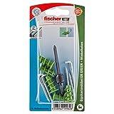 Fischer Gipskartondübel GK Green WH K, 5 x Winkelhaken 4,2 x 40, 1 x Setzwerkzeug, 524838