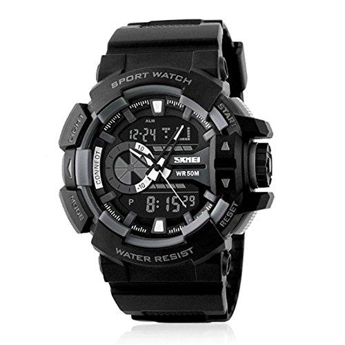 Skmei Analog-Digital Black Dial Men's Watch - SK10BBB