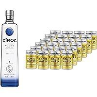 Ciroc Ultra Premium Vodka (1 x 0.7 l) mit Fever-Tree Premium Indian Tonic Water, Dosen (24 x 150ml)