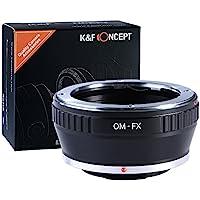 K&F Concept Lente adattatore di montaggio, Olympus OM Lente per Fujifilm X-Pro1 Mirrorless Camera