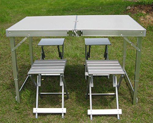 Tavoli e sedie pieghevoli all'aperto immersa pannelli di alluminio portatile