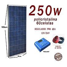 Kit Solar 250W 24V Panel fotovoltaico PWM 40a Polycristalline
