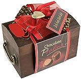 Pralinen Geschenkbox aus Holz | Pralinenschachtel Holztruhe Spruch: Ich hab dich lieb | Kleines Geschenk Geschenkidee für Frau Freundin mit Schokolade