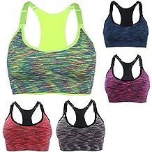 Mujer Yoga Deportes Correr Sujetador Sin Aros Gimnasio Alto Impacto Top Chaleco Estiramiento Bras Sujetador Shaper
