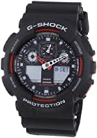 Casio Men's G-Shock Combi Watch with Resin Strap, GA-100-1A4ER