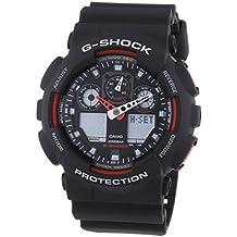 Casio G-Shock – Reloj Hombre Analógico/Digital con Correa de Resina – GA-100-1A4ER