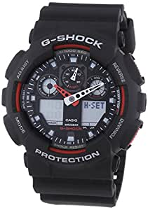 Casio G-Shock Men's Watch with Black Analogue Display and Resin Strap GA-100-1A4ER