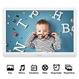 Marco Digital 10 Pulgadas Full HD Pantalla LED IPS Resolución 1920 * 1080 Marco de Fotos Digital MELCAM con Control Remoto Soporte Vista Previa Auto-rotación Foto/Música/Video - Blanco