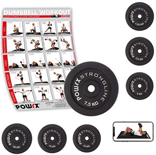 Hantelscheiben Gewichte Gusseisen Set 5-40 kg für Kurzhanteln 30 mm Paar (2 x 7,5 kg)