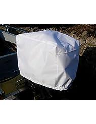 Motor fuera borda (impermeable y con ventilación Tamaño 7(150–300HP) Motor de color blanco funda