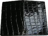 Scorekarten Mäppchen tooly mini in Krokoprägung aus feinstem Nappaleder in schwarz