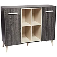 Maison Concept Urban Cabinet, Black and Grey - H 974 x W 400 x D 1200 mm