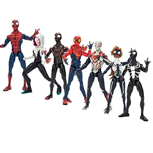 erman Spielzeug, Spider-Gwen, kleine Spinne, Pullover Spiderman, Spiderman 2099, Spider Girl, Arbeiter Spiderman Actionfiguren ()