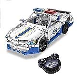 Modbrix Bausteine Polizeiauto 2,4 Ghz RC Auto mit Power Funktion, Konstruktionsspielzeug mit 435 Technik Teile