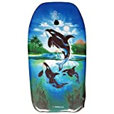 Lively Moments Bodyboard Fische 82 cm / Body Board / Surfboard / Schwimmbrett mit 3 Orkas