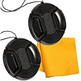 PROST 2 Pcs Lens Cap Cover Protector For Canon Nikon Sony DSLR Camera (67mm)