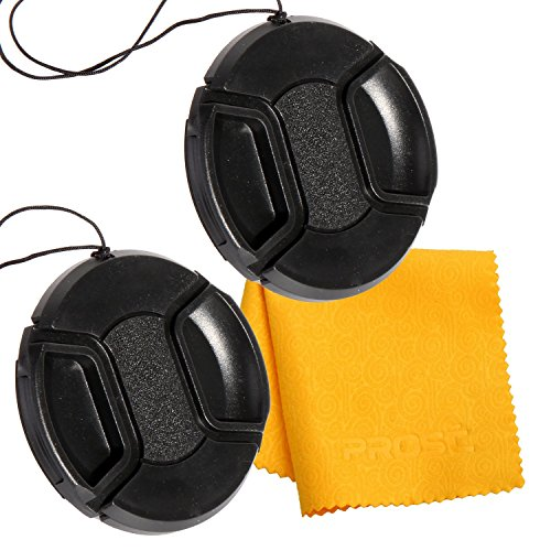 PROST 2 Pcs Lens Cap Cover Protector For Canon Nikon Sony DSLR Camera (62mm)