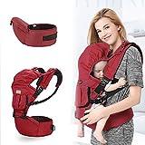 ZBHGF Ergonomische Baumwoll Babytrage für Neugeborene Atmungsaktive und weiche Babykette für Säuglinge und Kleinkinder,Weicher Atmungsaktiver Rucksackträger,B