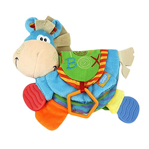 Forberesten Cute Donkey Cloth Book Activity Toy for Newborn Baby - Educational Soft Cloth Toy