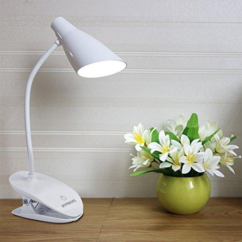 ATPWONZ LED Klemmleuchte, 360° Flexibel Schwanenhals klemmlampe, dimmbare Bettleuchte mit 3 Helligkeitstufen, Leselampe, Nachtischlampe,Schreibtischlampe,flexibel Leseleuchte am Bett, wiederaufladbar (Eine Am Leselampe Bett)