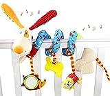 Freeas Spirale Bett Kinderwagen Spielzeug, Kleinkind Baby Aktivität pädagogische Plüschtier Bett hängen Spielzeug (Hund)