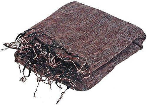 Meditationsdecke XL in der Farbe rot/braun, Größe 115cm x 245cm, 70% Acryl 30% Baumwolle