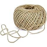 2 Rouleaux 80m/rouleau Ficelle Corde en Jute pour Artisanat Scrapbooking Jardinage