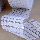 yulakes 250 pares botón de nylon puntos de botón de nylon autoadhesiva y tira botón de nylon banda punto bandas 15 mm botón de nylon redondo espalda 500 unidades