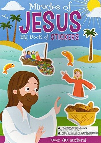 r-Wunder der Jesus-Aktivität Buch enthält über 80Aufkleber ()